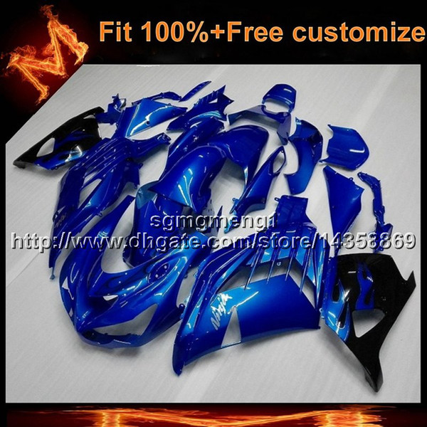 23colors+8Gifts Injection mold BLUE ZX14R 2006 2012 bodywork motorcycle Fairing For Kawasaki ZX 14 ZZR 1400 06 07 08 09