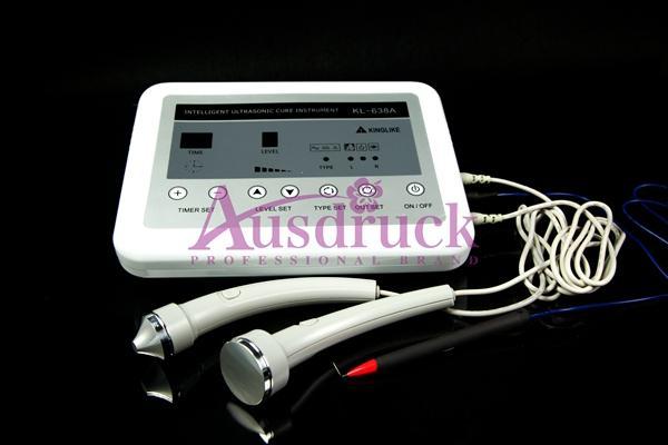 3en1 Ultrasonido Ultrasonido Masajeador Eliminador de manchas en la piel Salpicaduras Eliminación de la Terapia Corporal Masaje facial Máquina de belleza Facial Precio más bajo
