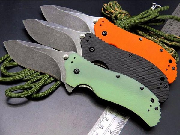 ZT Tolerancia Cero 0350 ZT0350 9CR18MOV G10 manija aleta plegable cuchillo de regalo de Navidad 1 unids
