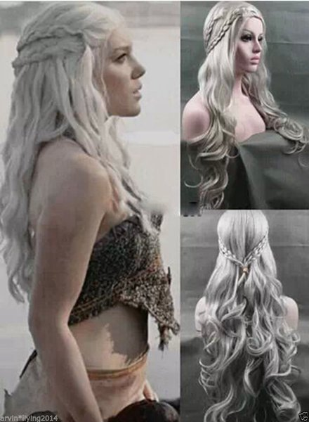 Perücke kann hot dyeHOT Daenerys Targaryen WIG Dragon Princess Game of Thrones Zöpfe cosplay Perücken