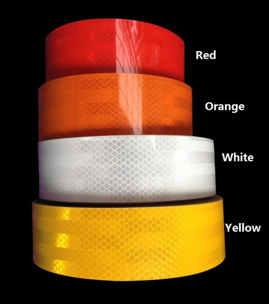 top popular 5cm*20m High visibility truck car motorcycle van traffic signal reflective sticker tape white and red reflective warning tape 2021