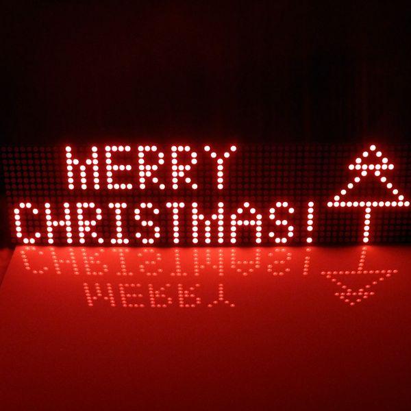 En gros-Fournir UNO MEGA2560 code 64x16 dot Matrix LED pour Arduino AVR MCU diy Cadeaux De Noël Signer Light Neon Bright