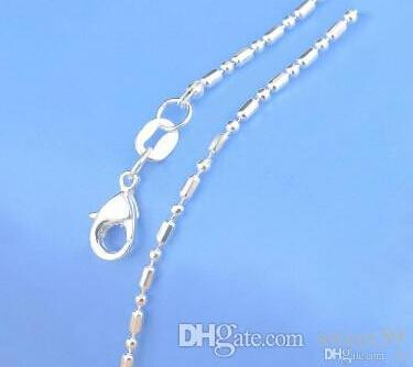 """Wholesale- New Jewelry Chains 18"""" 925 Sterling Silver Link Necklace Set Chains+Lobster Clasps Mix 20 Styles Free Shipping"""