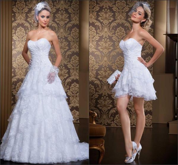 Discount Robe De Mariage Vintage Lace Detachable Skirt Wedding ...