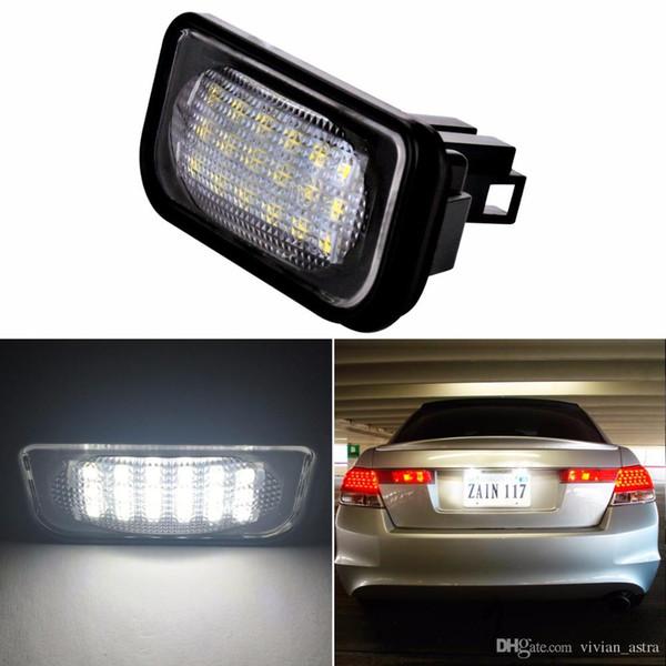 Car LED License Plate Lights 12V For Mercedes W203 4D C Class AMG Benz  Accessories SMD3528 LED Number Plate Lamp Bulb Kit Led Light Automotive Led