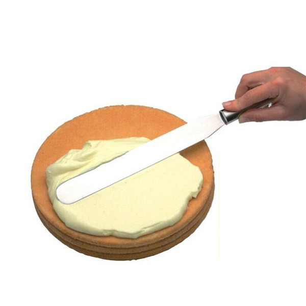 Stainless Steel Cake Cream Butter Knife Pastry Spatula Smoother Icing Frosting Spreader Fondant Pastry Cake Decoration ZA5376