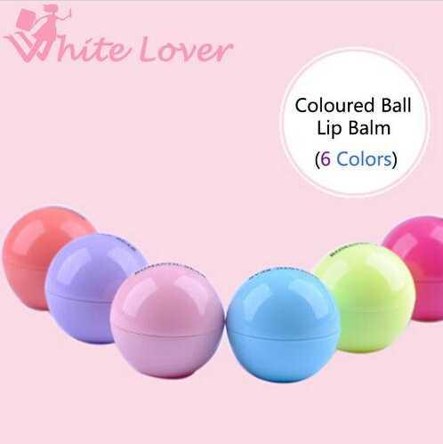 best selling 6 Color New Round ball Smooth lip balm Fruit Flavor Lip Care smackers Organic Natural Lip Balm Makeup set