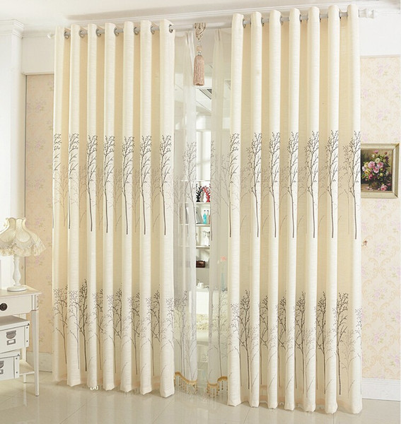 best selling Linen Curtains For Living Room  Tulle + Blackout Curtain 59*98 Inch Simple Rustic Eco-friendly Natural Healthy Free shipping