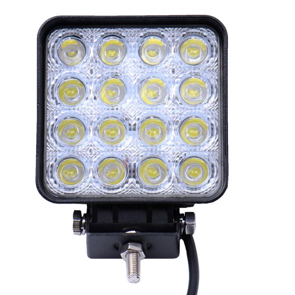 48W Square DC 12V 24V LED Lámpara de trabajo Spot Light Combo Beam Offroad Boat Car Moto SUV Night Driving Lighting
