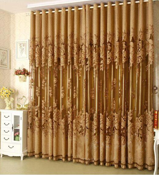 best selling 100*270cm Modern Fashion Window Screening Curtain Finished Product Window Curtains Without Blackout Lining Curtain Living Room Decor