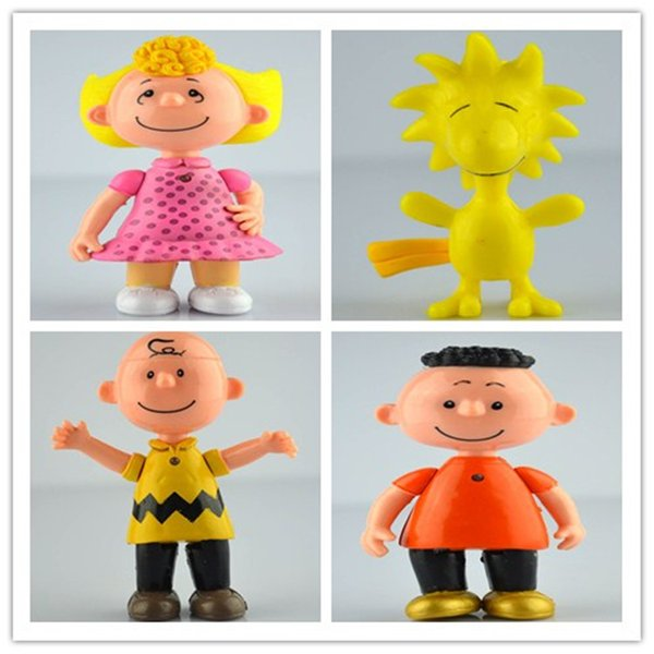 Hot Sale Peanuts Comics Charlie Brown And Snoopy Figures Toys 8 Styles Snoopy Action Figures Dolls Anime Figure Toys Free Shipping