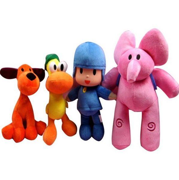 4pcs/Set 14-30cm Kids Brinquedos Gift Pocoyo Elly & Pato & POCOYO & Loula Stuffed Plush Toys Good Christmas Gift For Children