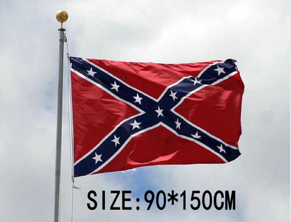 50pcs Confederate Rebel Flags Civil War Rebel Flag National High Quality Polyester Two Side Pirnted 3*5 Bettle Flags 150*90cm