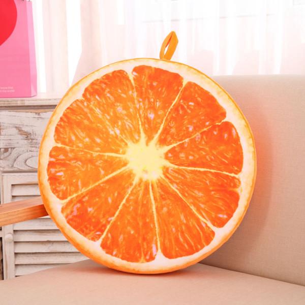 Round Soft Pillow Plush Cushion Orange Kiwi Watermelon