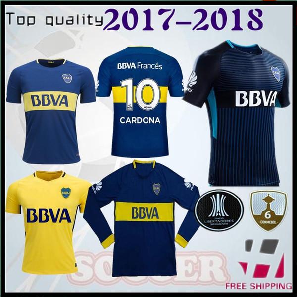 huge selection of a8a58 bef6a 2019 2017 2018 Boca Juniors Soccer Jersey Home Away Third Argentina Club 17  18 Boca Juniors GAGO OSVALDO CARLITOS PEREZ P Long Sleeve Shirt From Wufb,  ...