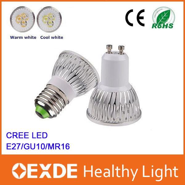 led light spotlight bulbs 30 120 volt GU10 MR16 e27 CREE 240v Energy-saving where to buy Floodlight flood cob car Low price