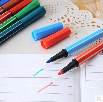 18 pennarelli per acquerelli lavabili per bambini con pennarelli colorati per acquerelli. Strumenti di disegno per cancelleria per la scuola 18pcs / lot ARC713