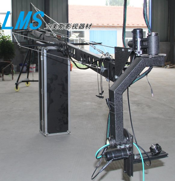 lms 8m Camera Crane Jib Professional DV camera crane jib arm with triangle electronic control rocker arm