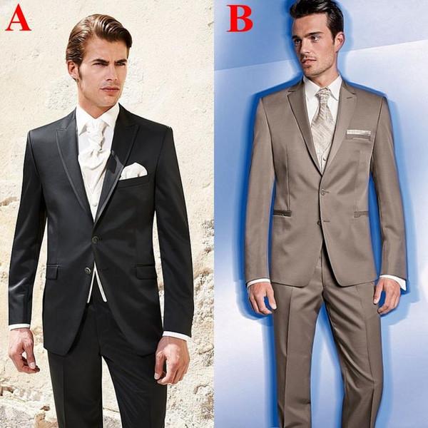 New Collection Men's Suits Lapel Collar Formal Party Clothing Light Slim Classic Blazers Plus Size (Jacket+Pants+Vest) Wool Blend