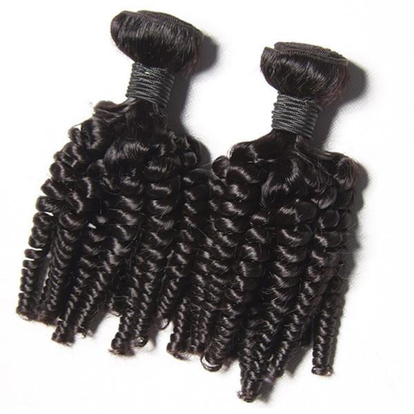 8A Grado - 3 Paquetes Ofertas Afro Kinky Pelo rizado Espiral Curl Weave 100% cabello humano Pelo peruano de la Virgen Curly Wave Aunty Funmi Bouncy Curls