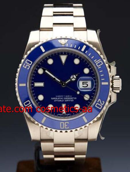 Orologi da uomo di alta qualità di lusso in acciaio oro blu quadrante 40 millimetri movimento automatico 16613 Diver orologio da uomo