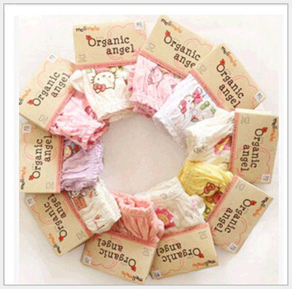 best selling Korean Organic Cotton Kids Underwear Panties Short Pants 100% Cotton Baby Boys Girls Briefs Underpants for Party Dress Children Clothing