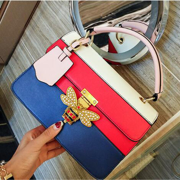 Women's Bags casual Totes New pattern Bee girl PU leather Soft Cross Body Shoulder Bags free shipping