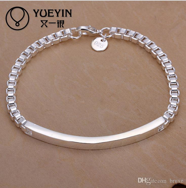 High quality New Wholesale Hot 925 silver Korean fashion accessories middle shoe Aberdeen Bracelet H079 free shipping