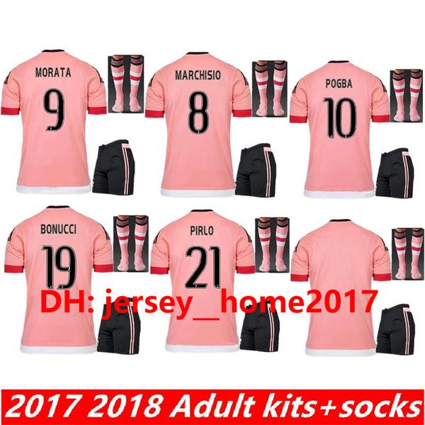 15 16 kit per adulti DYBALA MATUIDI terzo 2015 2016 maglia da calcio + calze da uomo set 17 18 HIGUAIN D. Costa MANDZUKIC maglia da calcio THRID CAMICIE