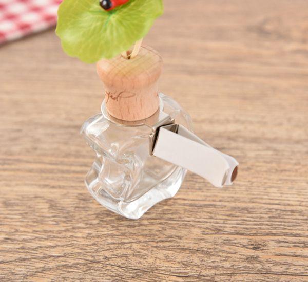En Popüler mini asılı araba difüzör şişeleri boş araba parfüm şişesi cam Parfüm uçucu yağ şişesi için toptan
