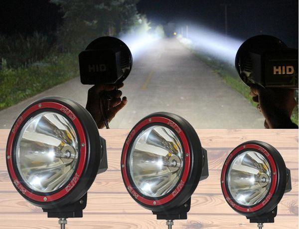 "7"" 55W offroad 7 inch HID Xenon Driving Light Work Light spot flood Beam Fog Light SUV ATV 4WD 4X4 For Car Jeep Truck 2pcs DHL free"