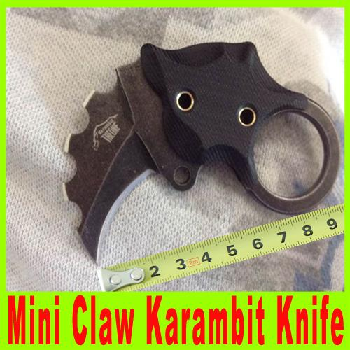 201410 o one mini garra karambit aus-8 EDC faca dobrável lâmina antiderrapante G10 lidar com Kydex Survival Tactical facas de presente de natal 412 X