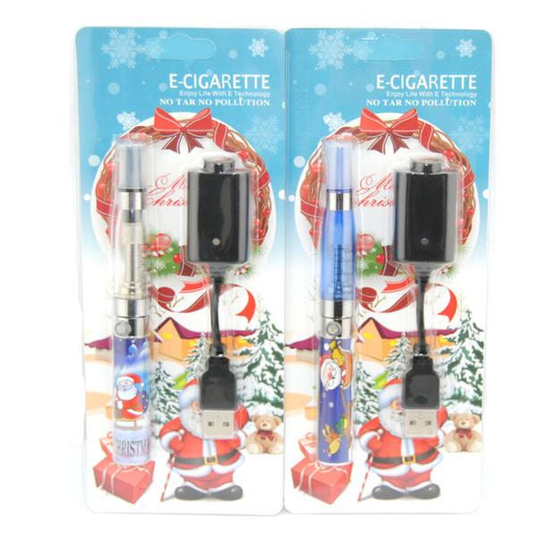 Ecig vape pen e liquid vaporizer e cigarette for Christmas CE4 atomizer with Xmas ego-t 510 battery christmas trees gift packagestarter kit