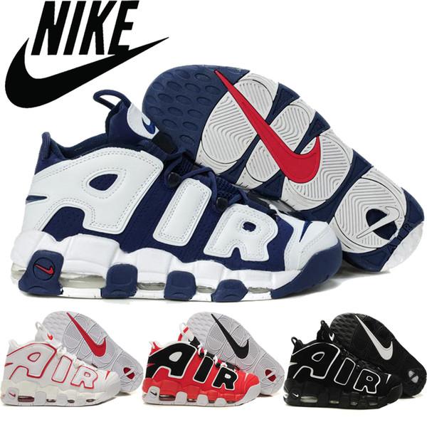 Großhandel Nike Air Weitere Uptempo Männer Basketball Trainingsschuhe Air Max USA Olympic Männer Turnschuhe Discount Sport Basketball Schuhe Von