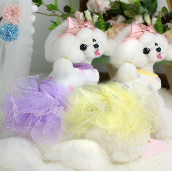Lollipop Pet Products Supplies Dog Clothes Wear Apparel T-shirt Hoodies Puppy Dot Lace Border Dresses Thick Downs Jackets 7DLP62