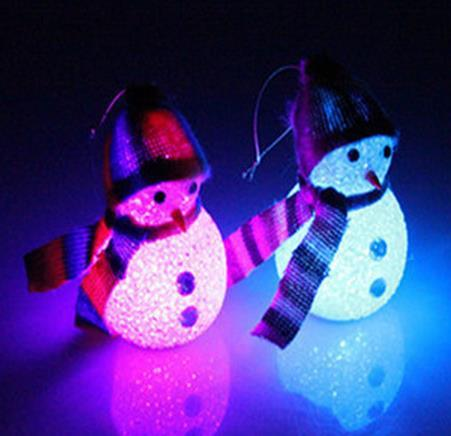 LED flash Snowman figurine Christmas Decorations pendants newest Christmas Tree Ornament bar party festive props cartoon kids toy dolls gift