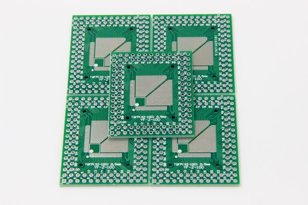 5pcs QFP TQFP LQFP TQFP32 TQFP44 TQFP64 TQFP80 TQFP100 0.5MM 0.8MM Pitch IC adapter Socket Adapter plate / PCB