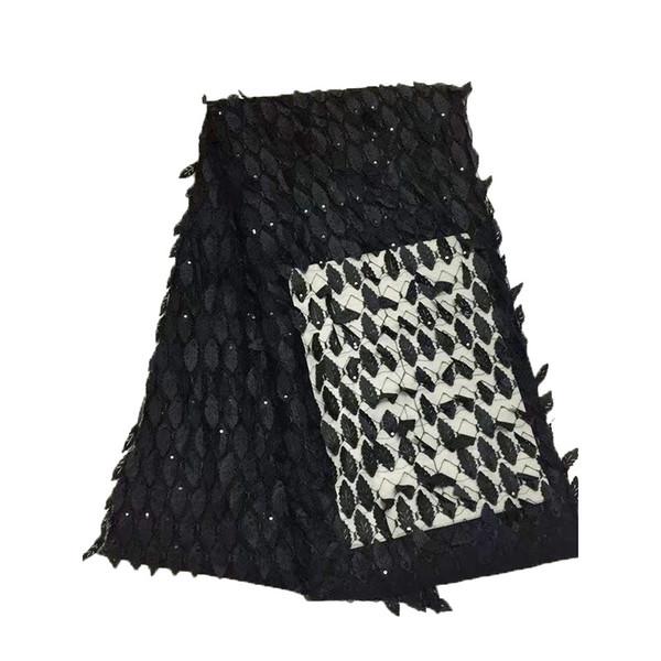 Miglior tessuto africano del merletto di colore oro nigeriano tessuto francese 2017 di alta qualità tulle africano tessuto di pizzo per abito da sposa GYNL0012
