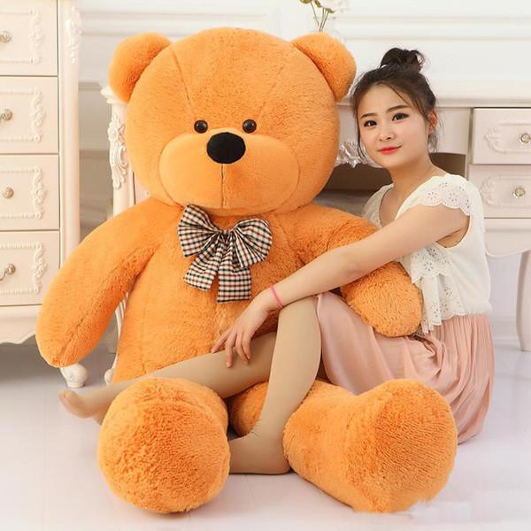 100 Cotton Light Brown Giant 100cm Cute Plush Teddy Bear Huge Soft TOY