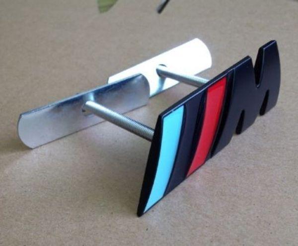 Chrome Metal M Power Car Front Grill M Badge Logo EMBLEM for BMW X1 M3 X5 E46,Black