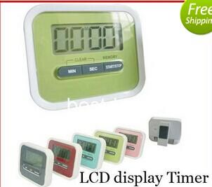 best selling 7026 Christmas Gift Digital Kitchen Count Down  Up LCD display Timer  clock Alarm with magnet stand clip