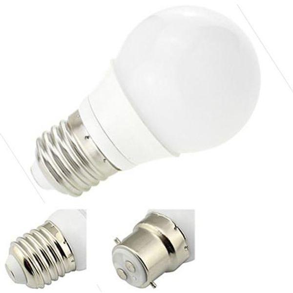 Neue design 12 V 24 V Led Cob Lampe 3 Watt Downlight E27 / E26 / B22 AC / DC 9-30 V Tischlampe 85-265 V AC 220-240 V Ball Blase Ligtht 10 Teile / los