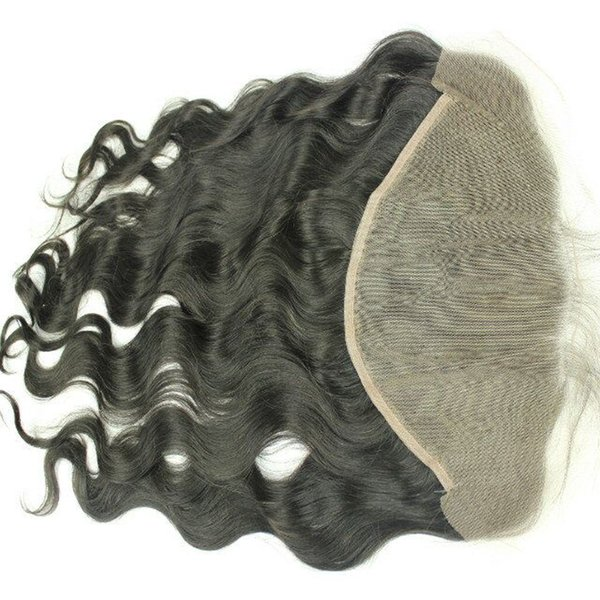 13x6 Lace Frontal Brazilian Lace Frontal Closure With Baby Hair Bleached Knots Body Wave Full Frontal Lace Closure