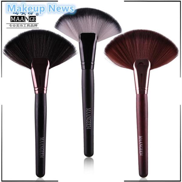 Wholesale-1pc Soft Makeup 3 colors maange Large Fan Brush Blush Powder Foundation Make Up Tool big fan Cosmetics brushes nake News
