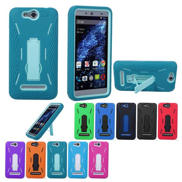 Wholesale Free Shipping CELL PHONE CASE HEAVY DUTY Shockproof Silicone+PC 10 Colors For BLU Energy X/E010Q