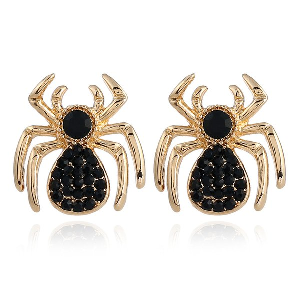 New Hot Fashion Xmas Insect Crystal spider Jewelry Accessories Earrings Pendant Earrings for Women's /children /girl Gift Free Shipping