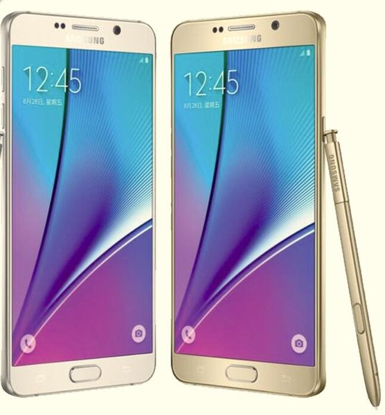 Samsung Galaxy Note 5 N920A N920T N920P N920V N920F Octa Core 4GB/32GB 5.7 Inch 2560 x 1440 Refurbished Cell Phone