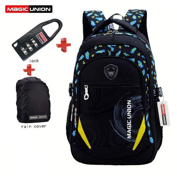 Magic Union Children School Bags Brand Design Child Backpack In Primary School Backpacks Mochila Infantil Zip +Lock +Raincover