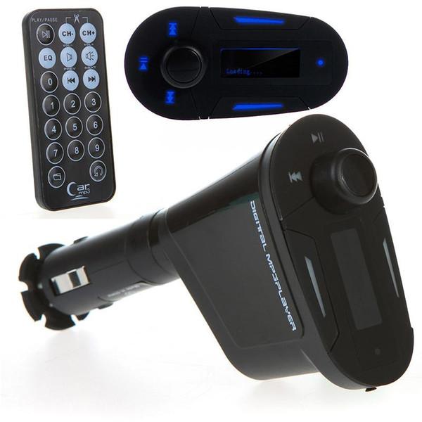 Blue Car MP3 Radio Car Kit Player Wireless FM Transmitter USB SD MMC LCD Remote
