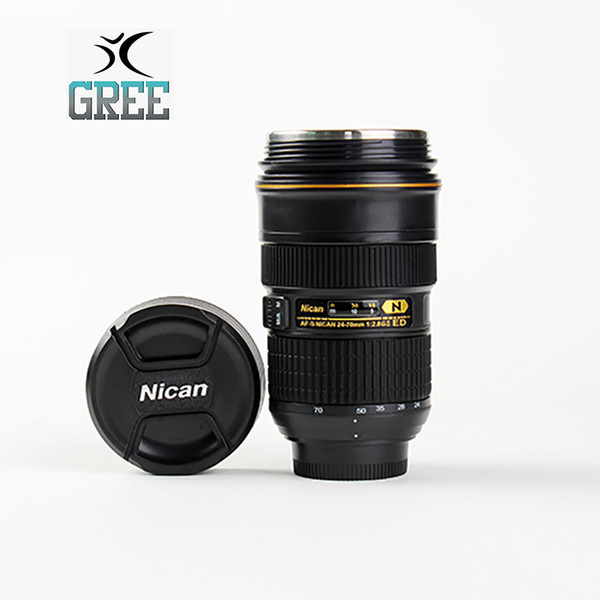 Manufacturers selling SLR camera Nikon Creative retractable cup hot water cup stainless steel coffee mug